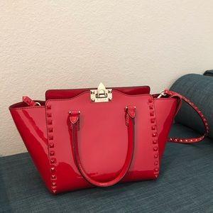 Red Valentino Rockstud Tote Bag